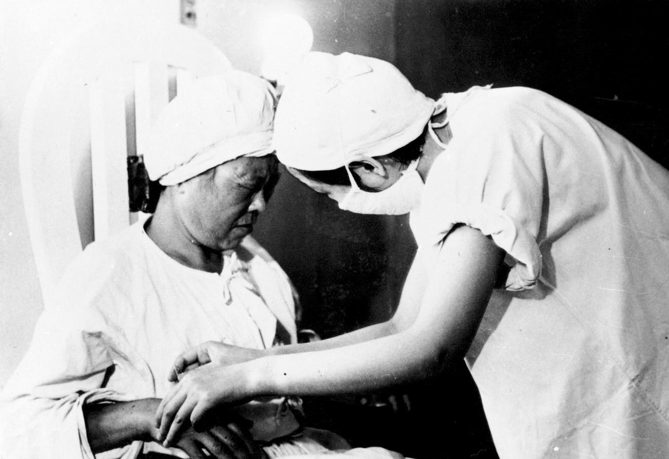First case of acupunctura anesthesia surgery in China in 1958)